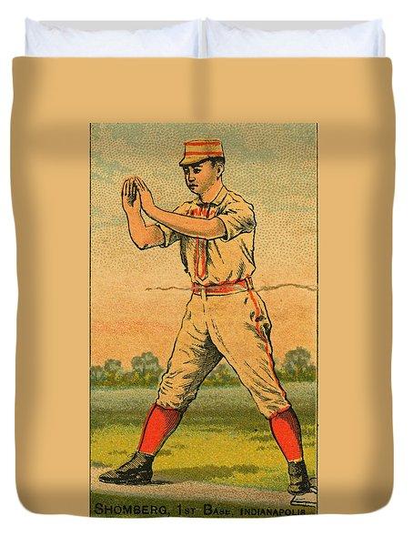 Baseball Cards- Vintage- Stromberg Duvet Cover by Kenny Francis