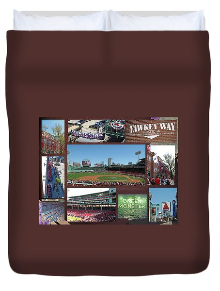 Baseball Collage Duvet Cover