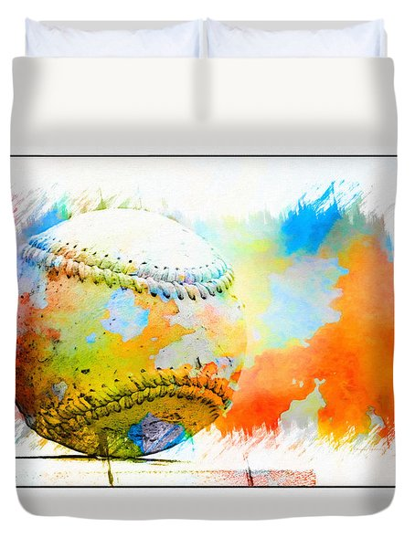 Baseball- Colors- Isolated Duvet Cover