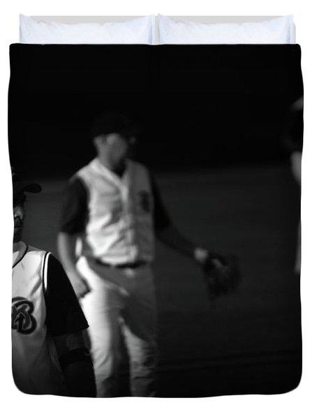 Baseball Days Duvet Cover by Karol Livote