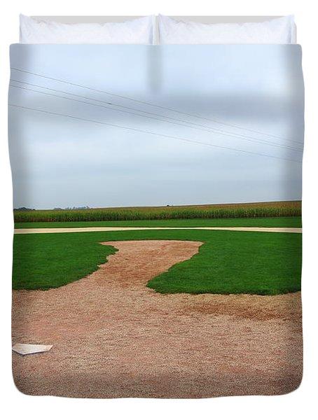 Baseball Duvet Cover by Frank Romeo