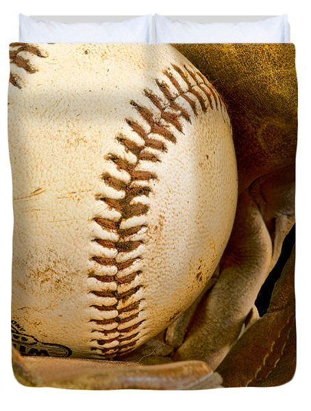 Baseball Has Been Very Good To Me Duvet Cover by Don Schwartz