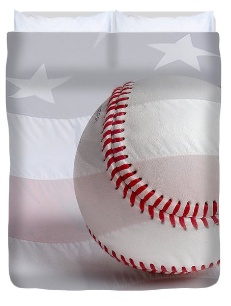 Baseball Duvet Cover by Heidi Smith