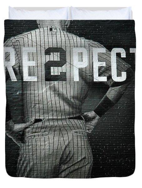 Baseball With Jeter Duvet Cover