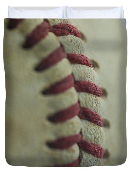 Baseball Macro 2 Duvet Cover