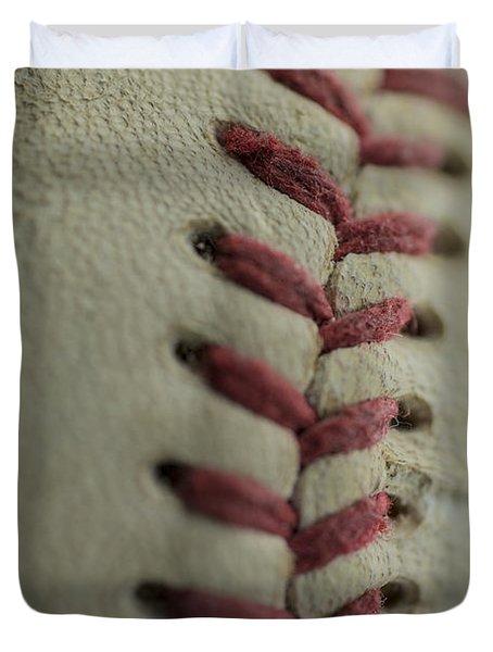 Baseball Macro Duvet Cover