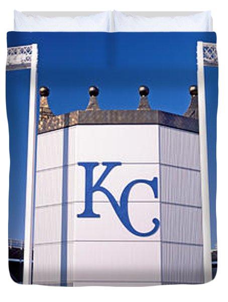 Baseball Stadium, Kauffman Stadium Duvet Cover