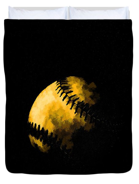 Baseball The American Pastime Duvet Cover by Edward Fielding