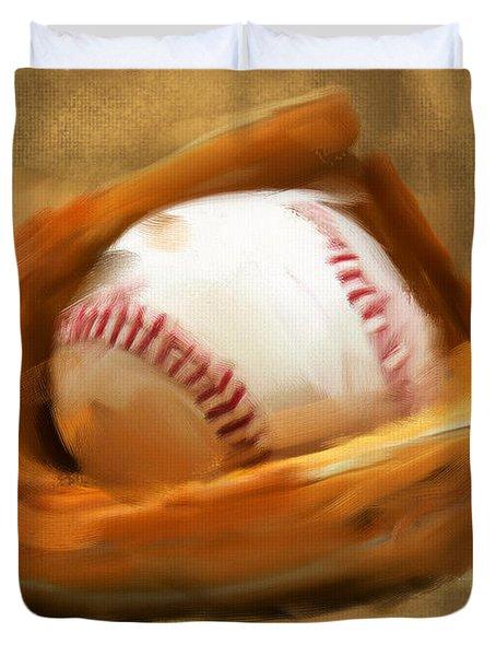 Baseball V Duvet Cover