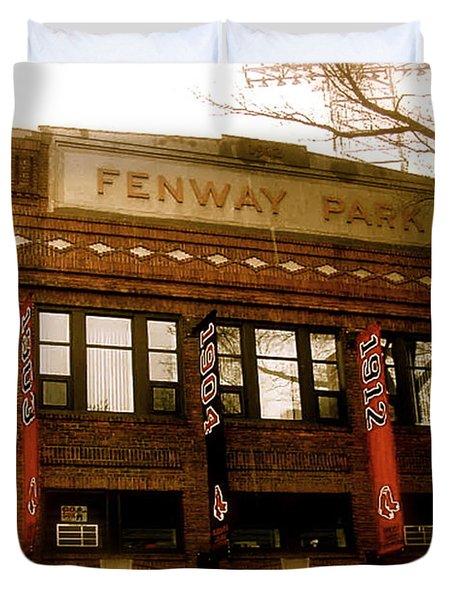 Baseballs Classic  V Bostons Fenway Park Duvet Cover