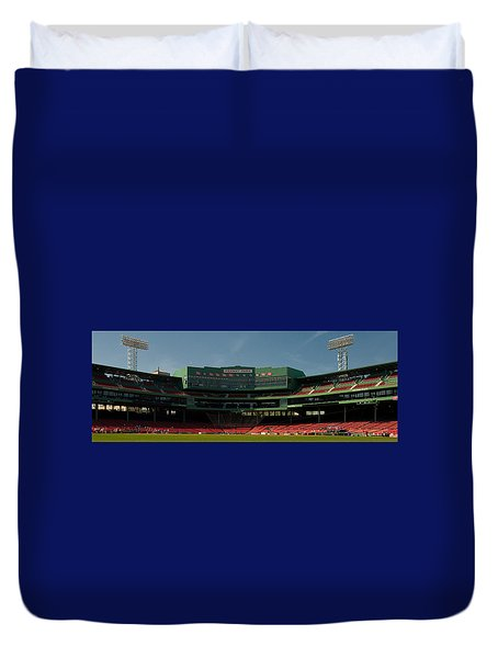 Baseballs Hollowed Ground Duvet Cover by Paul Mangold
