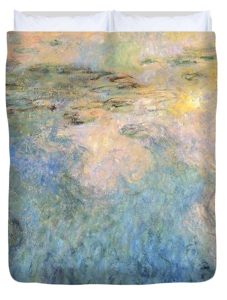 Basin Of Water Lilies Duvet Cover by Claude Monet