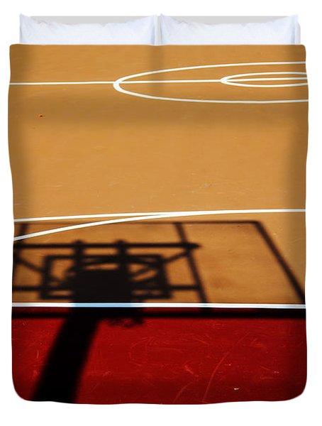 Basketball Shadows Duvet Cover by Karol Livote