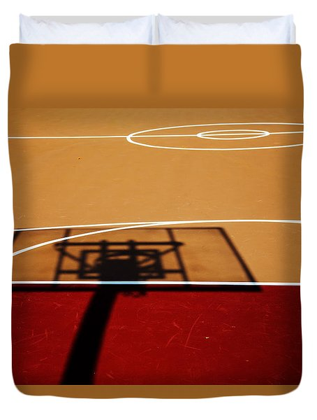 Basketball Shadows Duvet Cover
