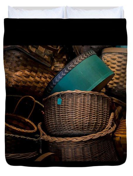 Baskets Galore Duvet Cover