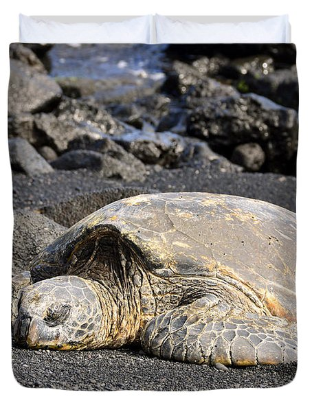 Basking In The Sun Duvet Cover by David Lawson