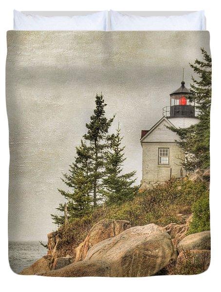 Bass Harbor Head Lighthouse. Acadia National Park Duvet Cover