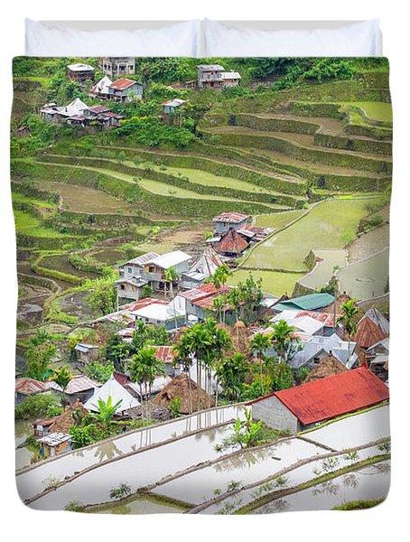 Batad Village, Banaue, Mountain Duvet Cover
