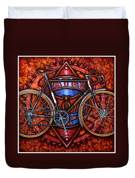 Bates Bicycle Duvet Cover