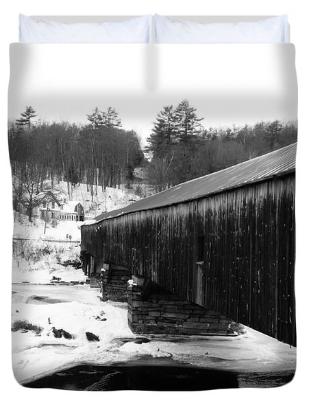 Bath Covered Bridge Duvet Cover