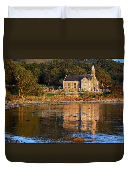 Duvet Cover featuring the photograph Bathed In Gods Light by Wendy Wilton