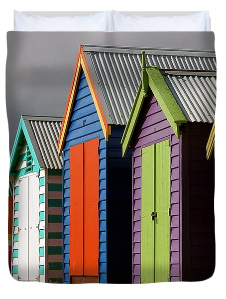 Bathing Huts Duvet Cover