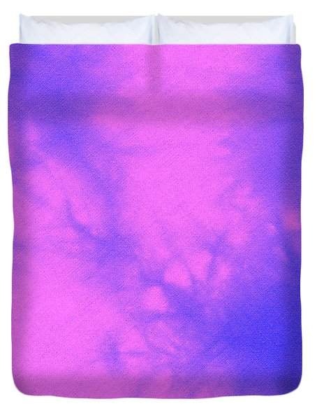 Batik In Purple And Pink Duvet Cover by Kerstin Ivarsson
