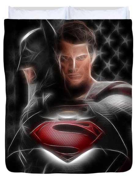 Batman Vs Superman  Duvet Cover