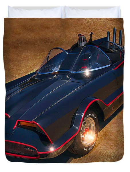 Batmobile Duvet Cover by Tommy Anderson