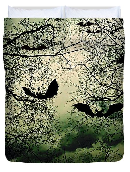 Bats From Hell Duvet Cover by Barbara S Nickerson