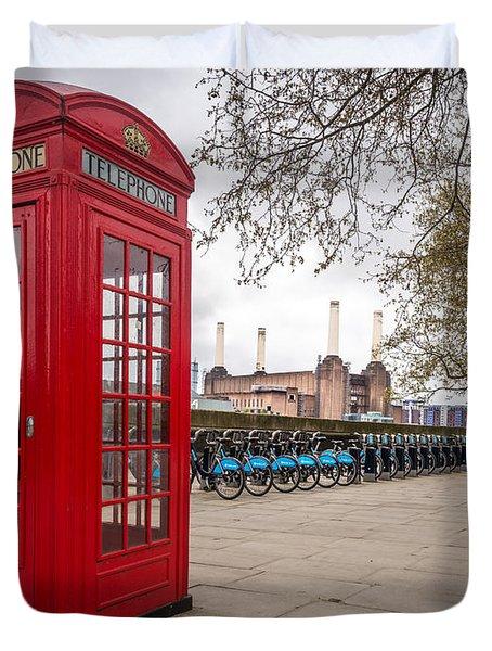 Battersea Phone Box Duvet Cover by Matt Malloy