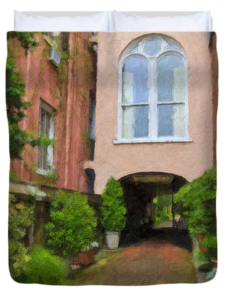 Battery Carriage House Inn Alley Duvet Cover