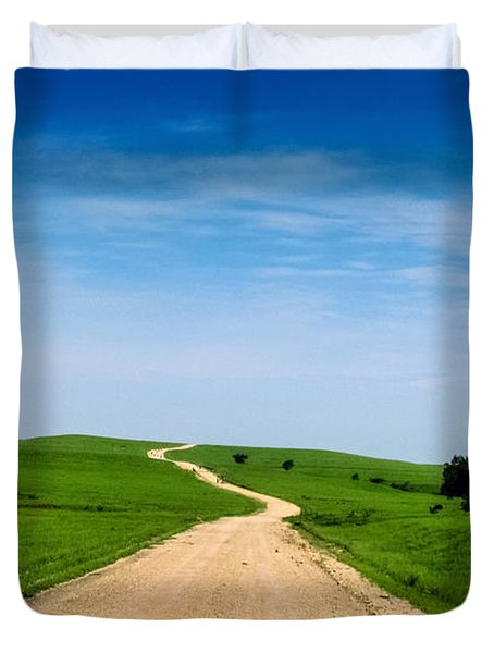 Battle Creek Road From The Saddle Duvet Cover