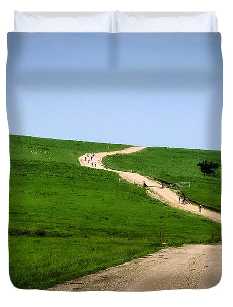 Battle Creek Road Teamwork Duvet Cover