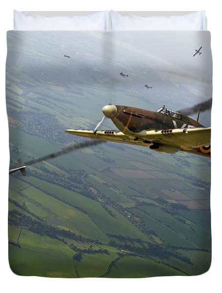 Battle Of Britain Dogfight Duvet Cover