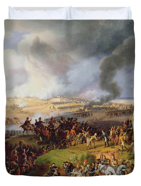 Battle Of Moscow Duvet Cover by Louis Lejeune
