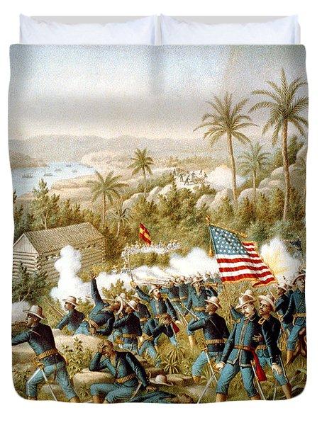 Battle Of Qusimas Duvet Cover by Kurz and Allison