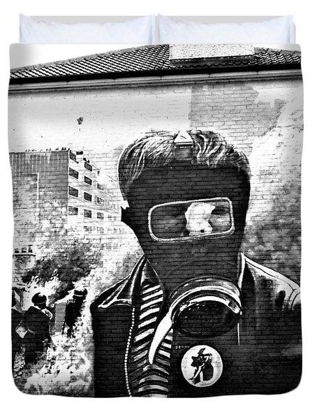 Battle Of The Bogside Mural Duvet Cover