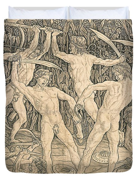 Battle Of The Nudes Duvet Cover