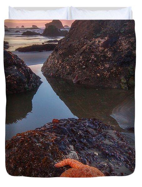 Battle Rock Sunrise Duvet Cover