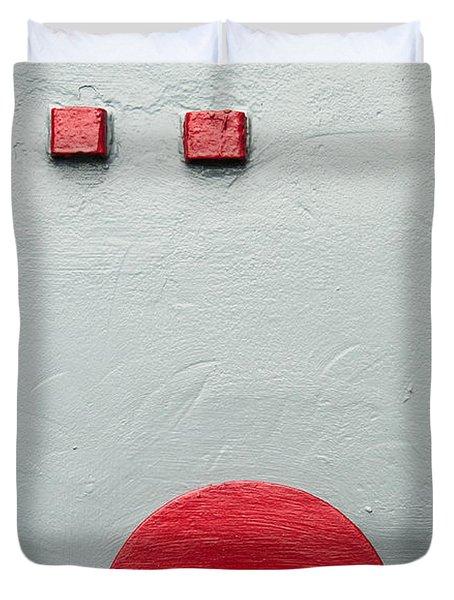 Battleship Abstract Duvet Cover