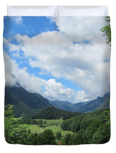Duvet Cover featuring the photograph Bavarian Countryside by Pema Hou