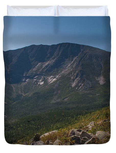 Duvet Cover featuring the photograph Baxter Peak by Alana Ranney