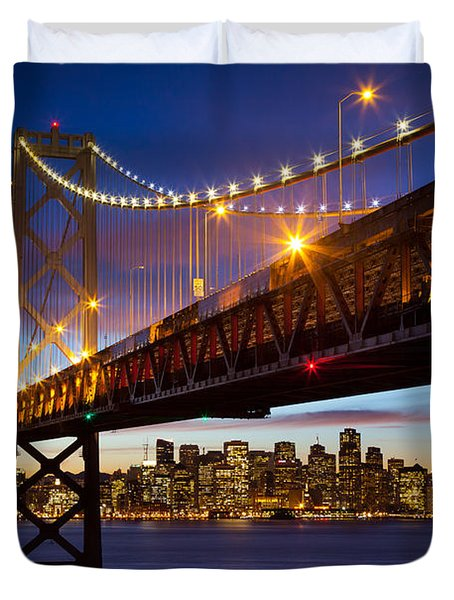 Bay Bridge Duvet Cover by Inge Johnsson