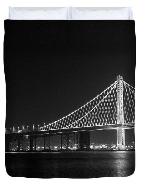 Bay Bridge Moon Duvet Cover