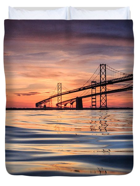Bay Bridge Silk Duvet Cover