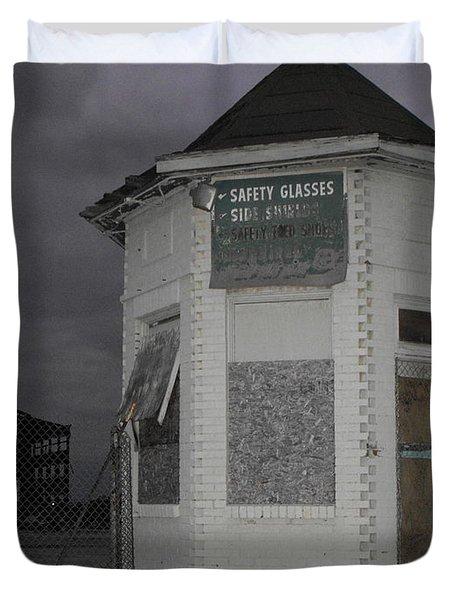 Bay City American Hoist Guard House Duvet Cover