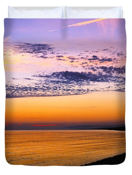 Bay Sunset Duvet Cover