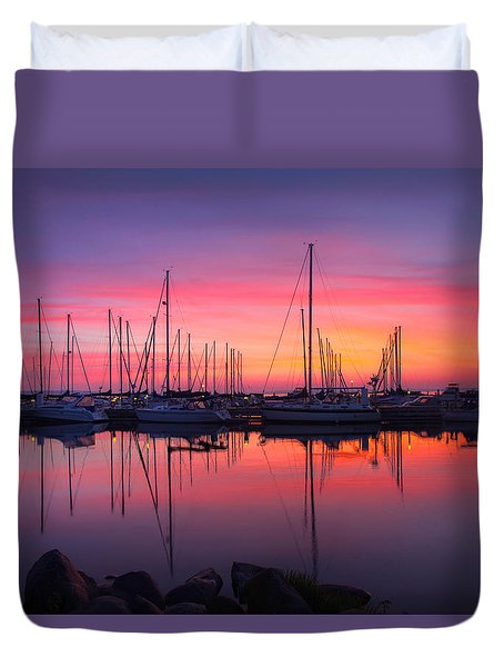 Bayfield Wisconsin Magical Morning Sunrise Duvet Cover