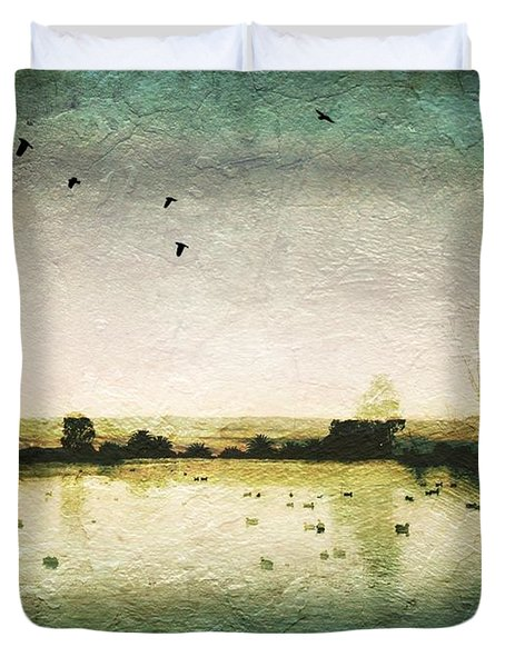 Baylands At Sunset Duvet Cover